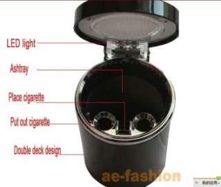 New Portable Car Auto LED Light Cigarette Smokeless Ashtray Holder