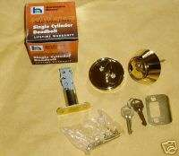 Single Cylinder Deadbolt ~ solid brass ~ lifetime warr