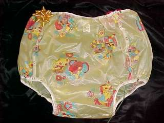 ADULT BABY DIAPERS DRESS TERRY + PLASTIC PANTS MD LG+
