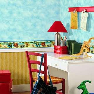 DINOSAURS Kid/Boy Room Decor Wallpaper Dino WALL BORDER