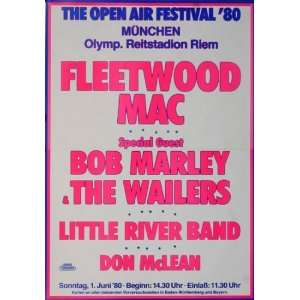 Fleetwood Mac   Open Air 1980   CONCERT   POSTER from