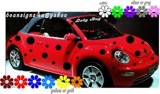 VW beetle spots dots ladybug volkswagon bug Eyelash 40 |