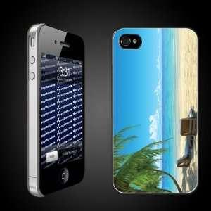 Beach Theme iPhone Case Designs Chairs on Beach W/Palmtrees   CLEAR