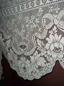 new white lace alpine roses design dresser scarf doilies set