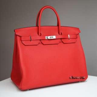 Geranium Red & Palladium 40cm HERMES BIRKIN BAG