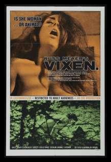 VIXEN ! * 1SH ORIGINAL MOVIE POSTER RUSS MEYER 1968