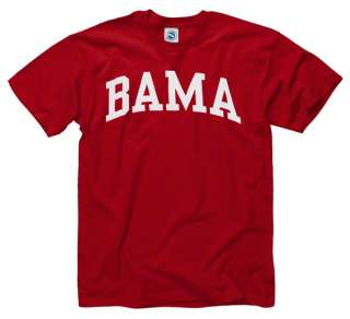 Alabama Crimson Tide Crimson Bama Arch T Shirt