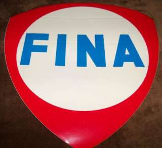 Vintage FINA Peel & Stick Decal by Meyercord Co.