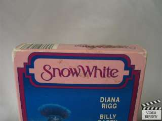 Snow White VHS Diana Rigg, Billy Barty, Sarah Patterson 045543103238