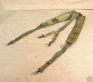 USMC Army Military Surplus ALICE Combat Y Suspenders LBE USGI OD Green