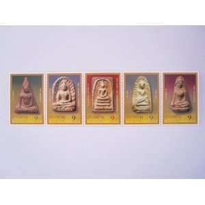 Thai Stamps in 2004 Holy 5 Greatest Thai Amulets