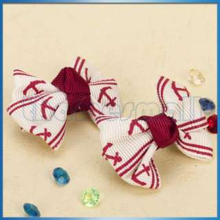 One Pair Pet Dog Cat Hair Clip Hairpin Bows Accessories w/ Alligator