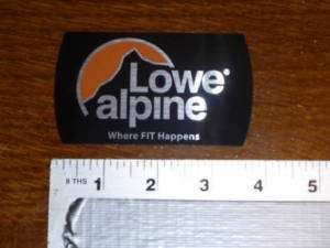 Lowe Alpine Logo Sticker Decal