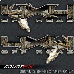4x4 Deer Skull Archery F 150 Decal Sticker Set: Sports