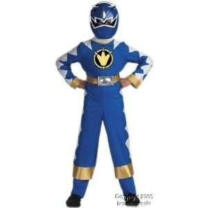 Childrens Blue Power Ranger Dino Thunder Costume: Toys