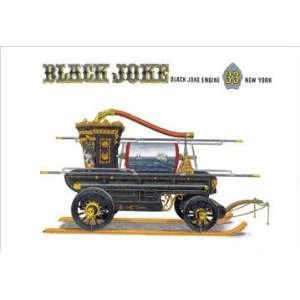 Black Joke: Black Joke Engine 33 New York 12x18 Giclee on