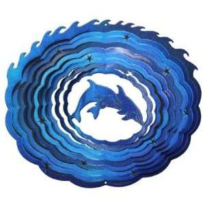 Blue Dolphin Wind Spinner   Made in the USA: Patio, Lawn & Garden