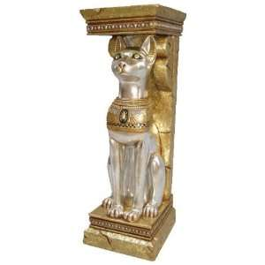 On Sale !! Egyptian Cat Goddess Bastet Pedestal Statue: Home & Kitchen