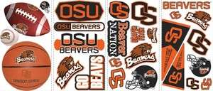 OREGON STATE BEAVERS Wall Stickers OSU Decals Room Car