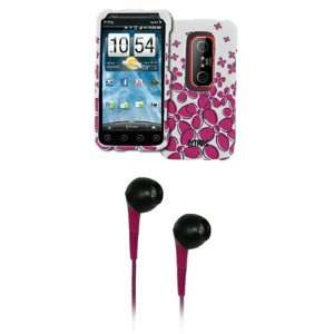 EMPIRE White with Hot Pink Daisy Rubberized Design Hard