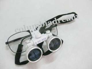 5x Dental Surgical Binocular Loupes + LED Head Light lamp High