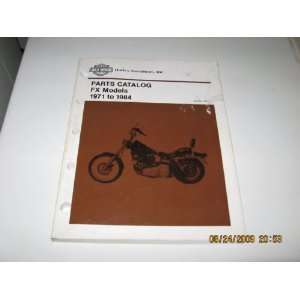 1971 to 1984 Harley Davidson FX Models Parts Catalog Harley
