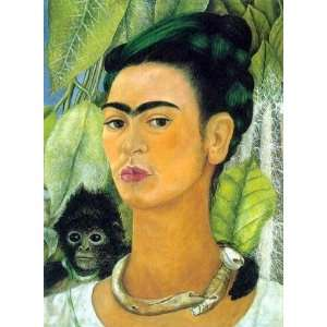 Paintings Self Portrait with Monkey Oil Painting Canvas Art Home