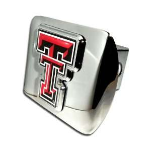 Texas Tech Red Raiders Bright Polished Chrome with Color TT Emblem