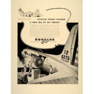 Ad Douglas DC 3 C 47 U.S. Army Air Corps Cargo WW2   Original Print Ad