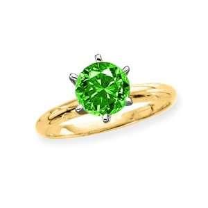 Cut Diamond Solitaire Engagement Ring (Yellow Gold) (Size 7) Katarina