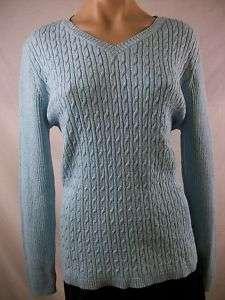 New Womens KAREN SCOTT Iced Aqua Marled Sweater X Large