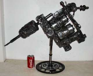 ONE OFF UNIQUE HUGE GIANT NUTS & BOLTS TATTOO MACHINE SCULPTURE