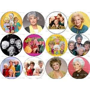 Set of 12 Golden Girls TV Sitcom Pinback Buttons: Everything Else