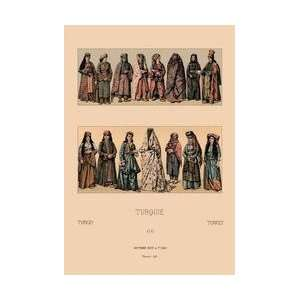 Traditional Turkish Women 12x18 Giclee on canvas: Home