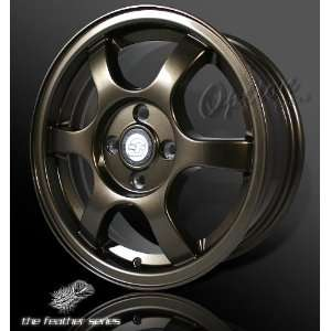 6 Spoke Racing Wheel Bronze JDM Style Rim 15 Inch 5x114.3