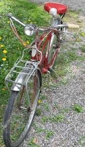 CORVETTE 3 SPEED MENS BEACH CRUISER BIKE VINTAGE BICYCLE RED WOW