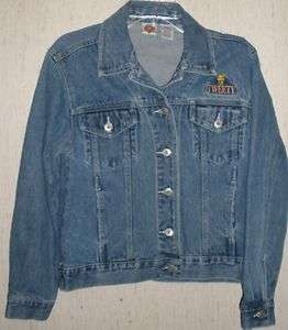 WOMENS LOONEY TUNES Tweety DISTRESSED BLUE JEAN TRUCKER JACKET SIZE