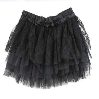 women ladies fashion black lace gauze 5 tiered skirt article nr