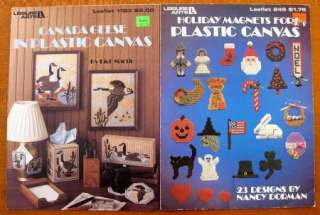 Lot Of 6 LEISURE ARTS Plastic Canvas Booklets Canada Geese, Pretty