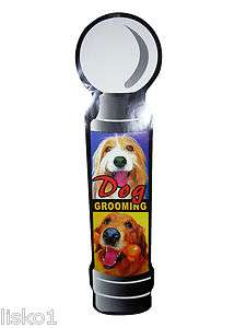 ASCOT 3 FOOT TALL ANIMAL / DOG GROOMING POLE DECAL, EASY INSTALL