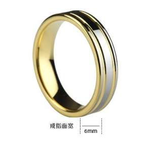 Tungsten Carbide Ring Gold Tone Engagement Wedding Bands Couple ring
