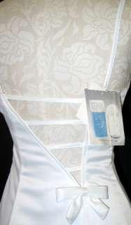 NWT Jessica McClintock Retro White Satin Tulle Dress Size 1