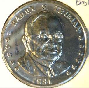 Harry S. Truman Commemorative Double Eagle Reverse Medal   Token