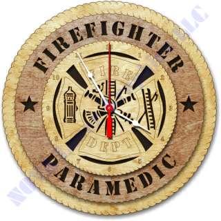 Firefighter Maltese Cross Birch Wall Clock