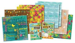 BEACH TRAVEL ISLAND PARADISE TROPICAL VACATION SCRAPBOOK KIT