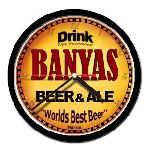 BANYAS beer and ale cerveza wall clock: Everything Else