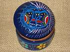 jewelry trinke t box painted eclipse of sun and moon beautiful mexican