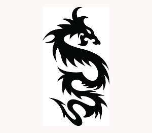 TRIBAL DRAGON Sticker Car Window Vinyl Decal Fire Breath Fly Chinese