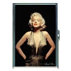 KL MARILYN MONROE SEXY GOLD DRESS ID CREDIT CARD WALLET CIGARETTE CASE