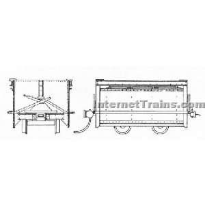 Grandt Line On3 Scale Koppel Mine Car 36 Gauge (2/ Pkg